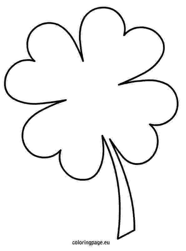 four leaf clover coloring page 4 leaf clover coloring page twisty noodle page coloring four clover leaf