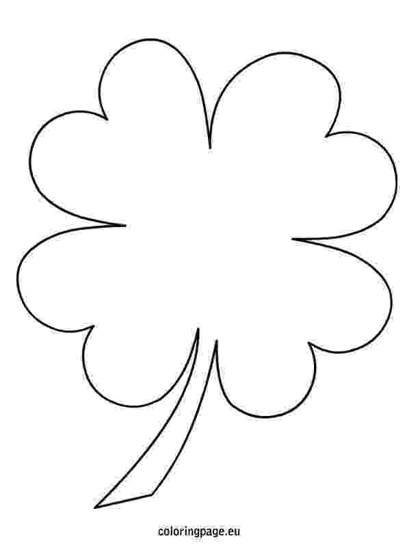 four leaf clover coloring page 4 leaf clover coloring page wwwbloomscentercom coloring clover page four leaf