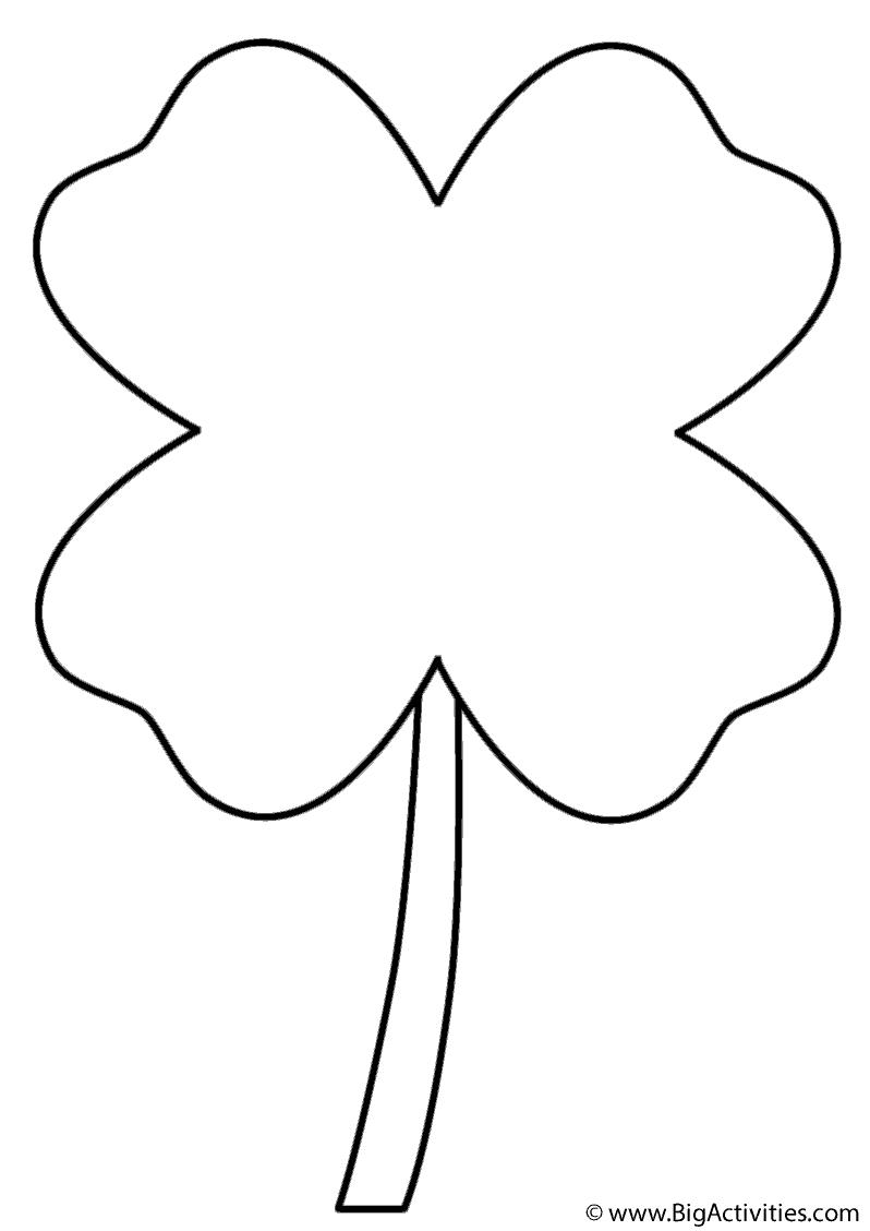 four leaf clover coloring page four leaf clover coloring for kids coloring pages for page clover coloring four leaf
