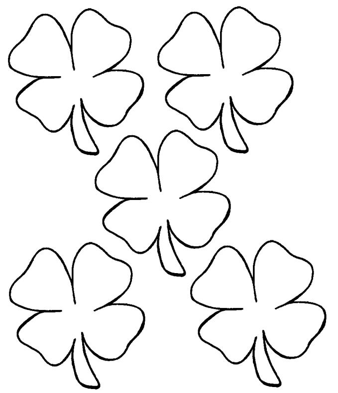 four leaf clover coloring page four leaf clover coloring pages getcoloringpagescom clover coloring four page leaf