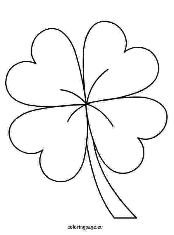 four leaf clover coloring page four leaf clover template coloring home four page clover leaf coloring