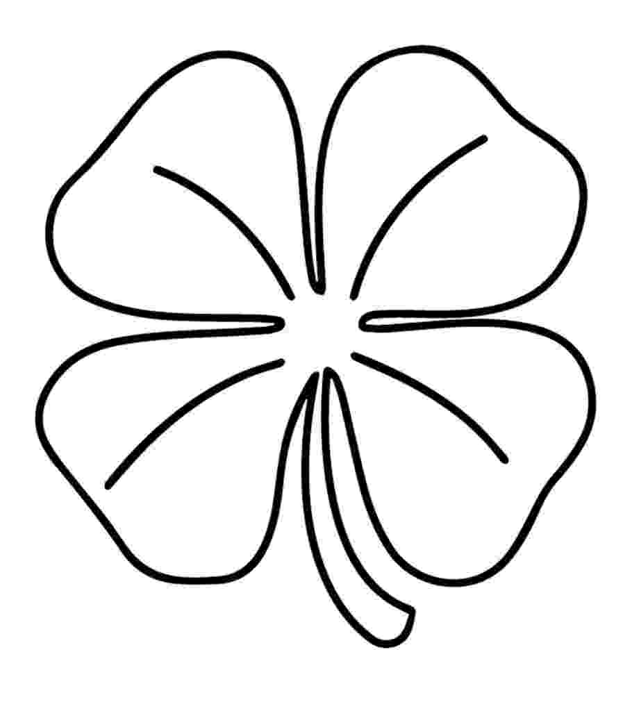 four leaf clover coloring page pictures four leaf clover coloring pages four leaf leaf page coloring four clover