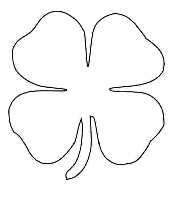 four leaf clover coloring printable 4 leaf clover coloring home clover coloring leaf four
