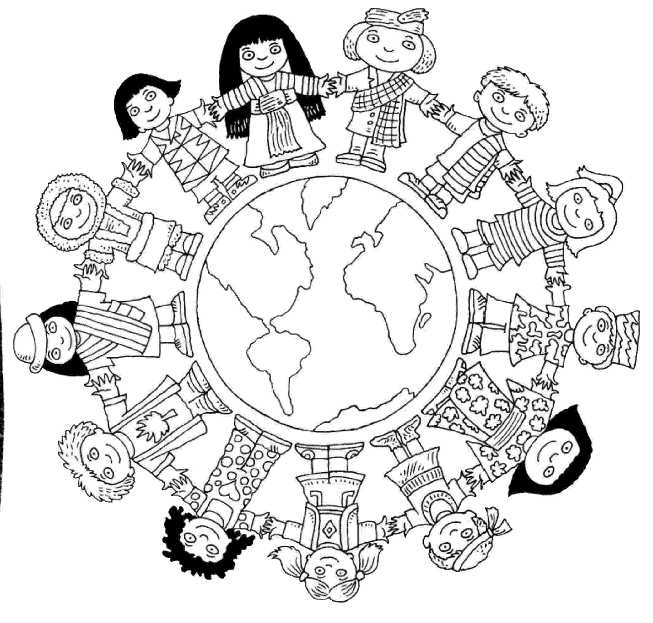 free color pages for christmas around the world children around the world coloring pages to download and pages for free the color christmas world around