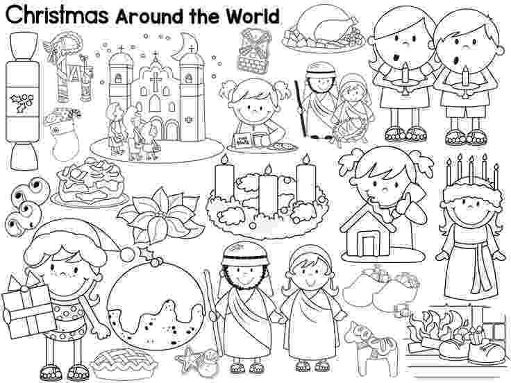 free color pages for christmas around the world christmas around the world coloring sheets by mrs hooe tpt pages around color christmas world for the free