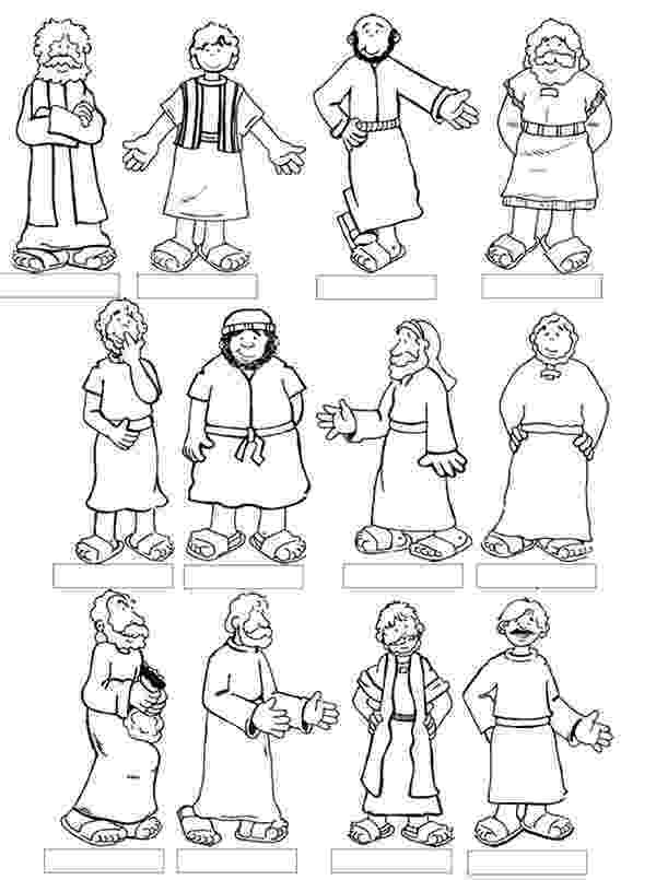 free coloring pages 12 apostles twelve disciples coloring page pages church sunday coloring apostles free 12 pages