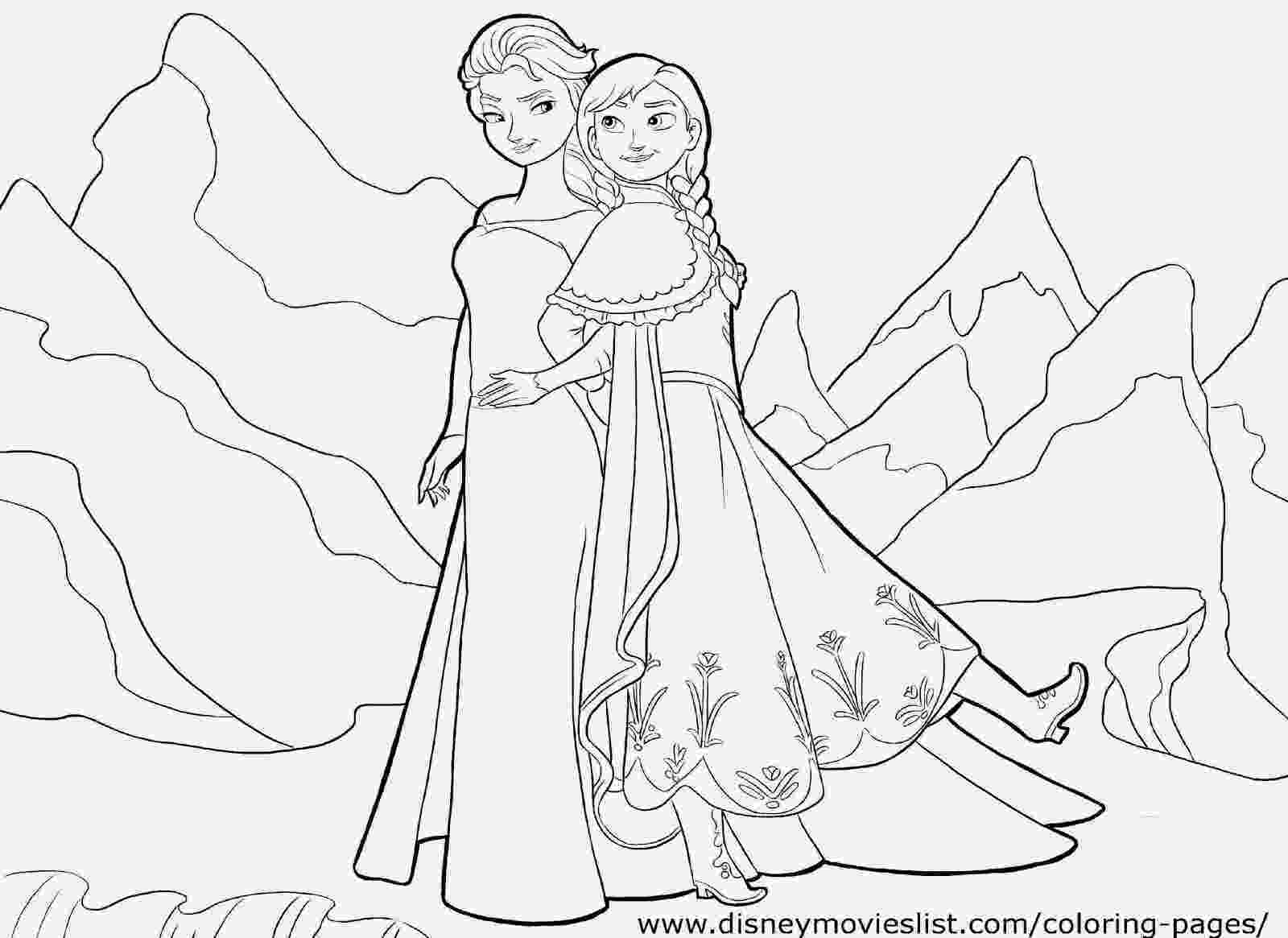 free coloring pages elsa and anna 12 free printable disney frozen coloring pages anna elsa pages free and coloring anna