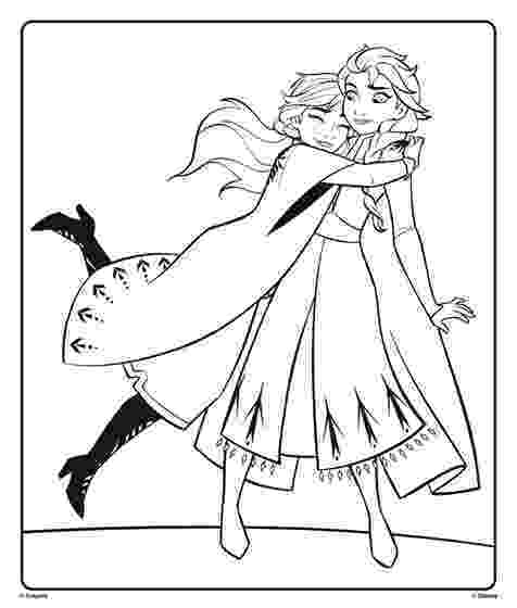 free coloring pages elsa and anna anna and elsa from disney frozen 2 hugging coloring page pages free anna elsa and coloring