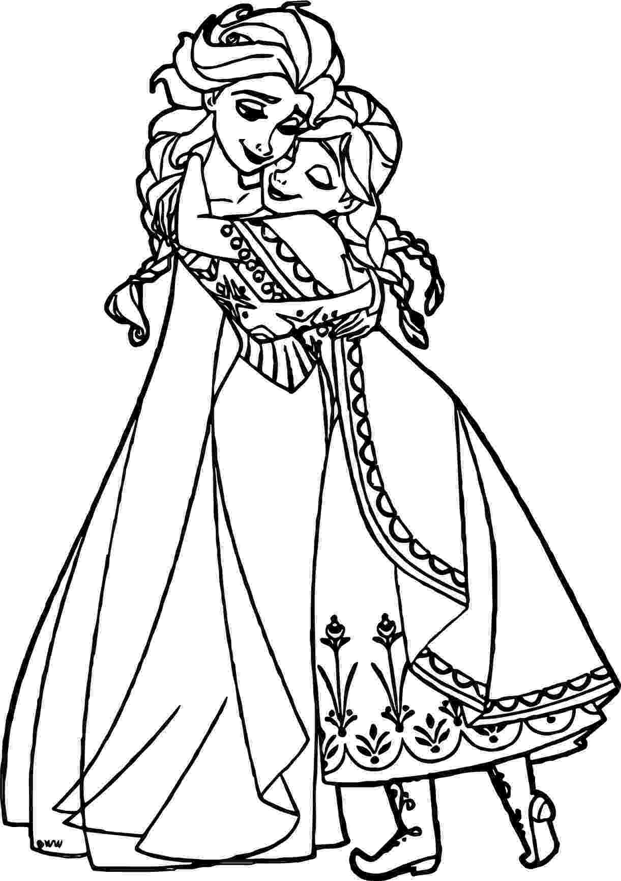 free coloring pages elsa and anna anna elsa hugging coloring page wecoloringpagecom elsa coloring free pages anna and