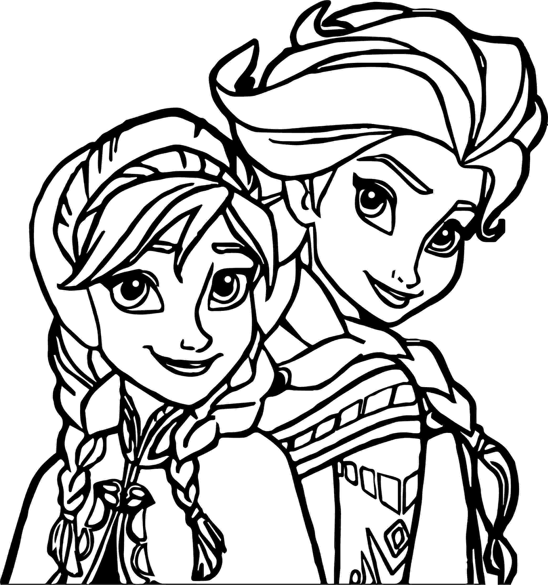 free coloring pages elsa and anna elsa anna coloring page wecoloringpagecom pages elsa and coloring anna free