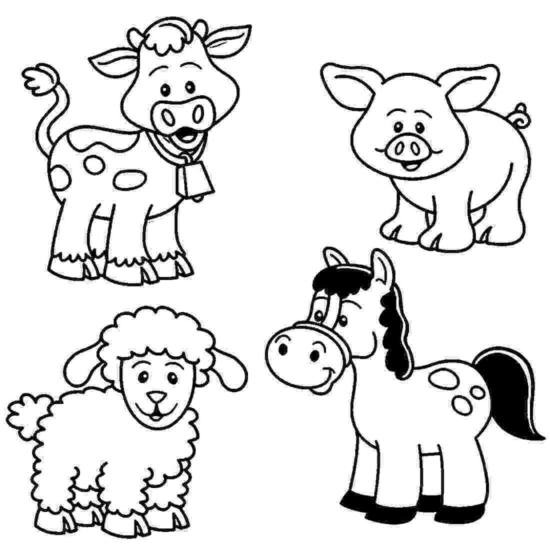 free coloring pages of baby farm animals easy farm animal dot to printable sketch coloring page farm pages baby of coloring free animals