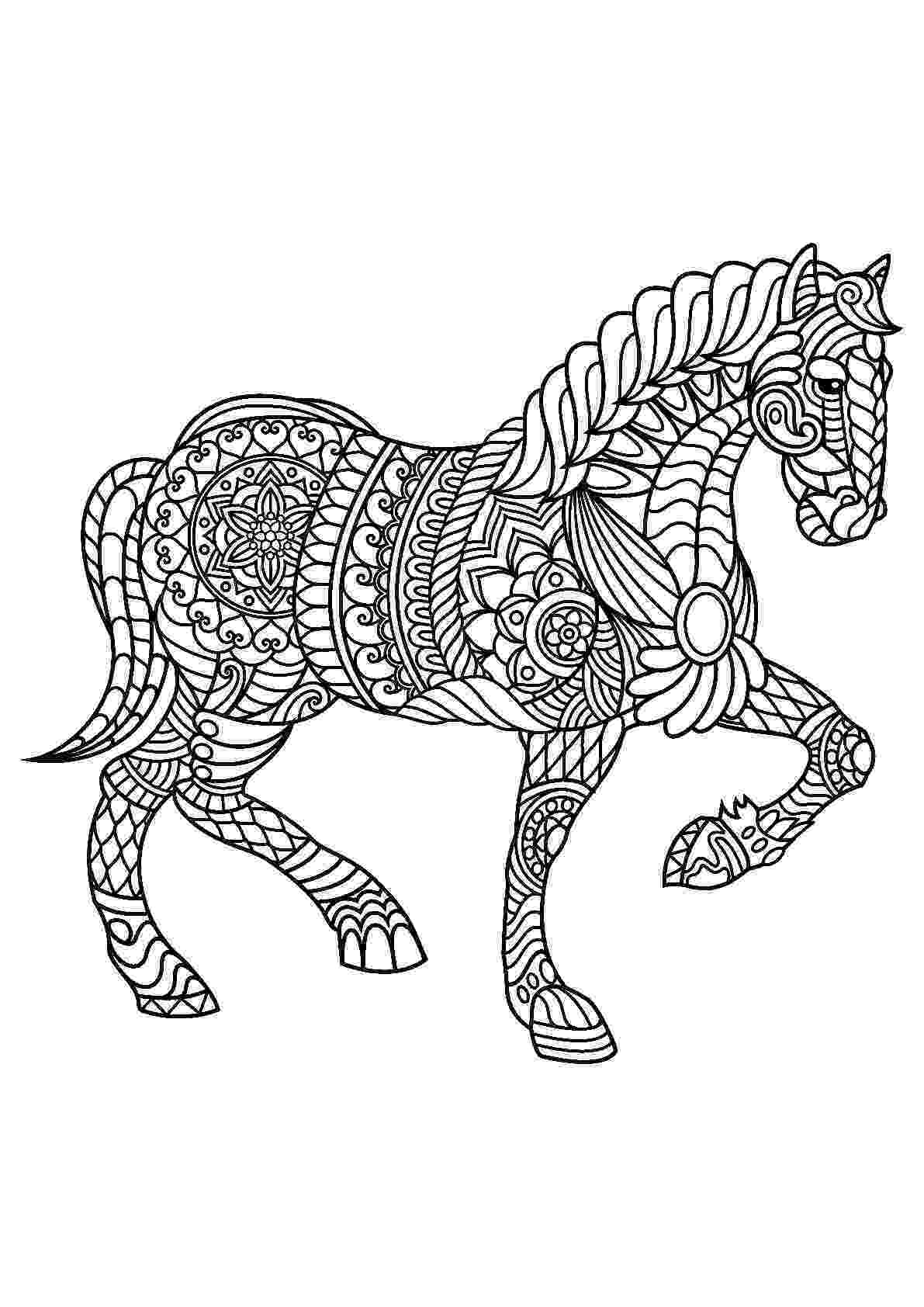 free coloring pictures of horses horse coloring pages printable coloring of horses pictures free
