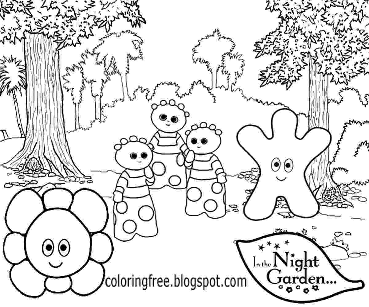 free colouring pages in the night garden free coloring pages printable pictures to color kids colouring free pages garden in night the