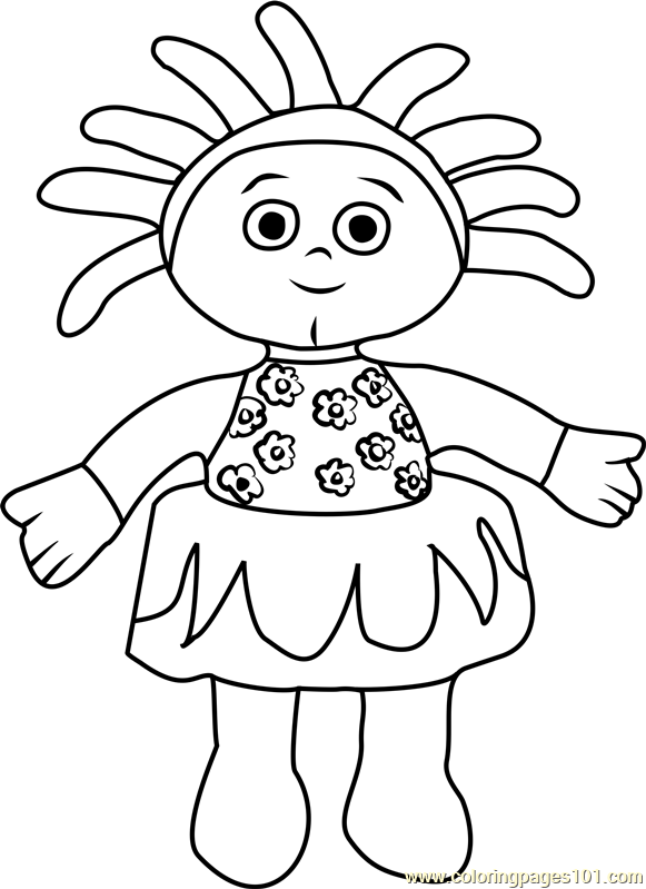 free colouring pages in the night garden upsy daisy coloring page free in the night garden the pages in night free colouring garden