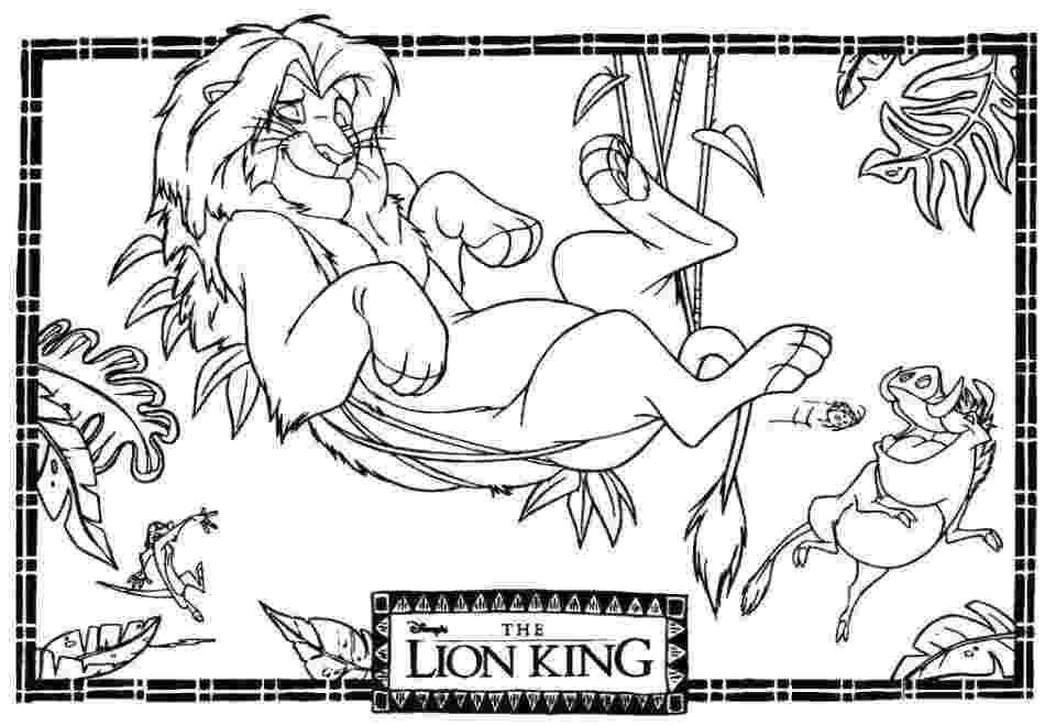 free colouring pages lion king 20 free printable lion king coloring pages colouring king free pages lion