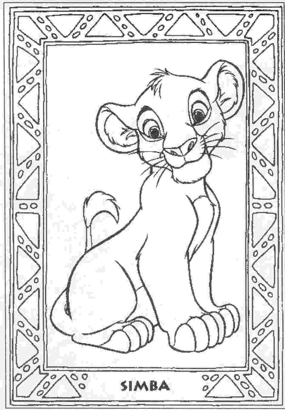 free colouring pages lion king disney coloring pages lion king free large images colouring lion pages king free