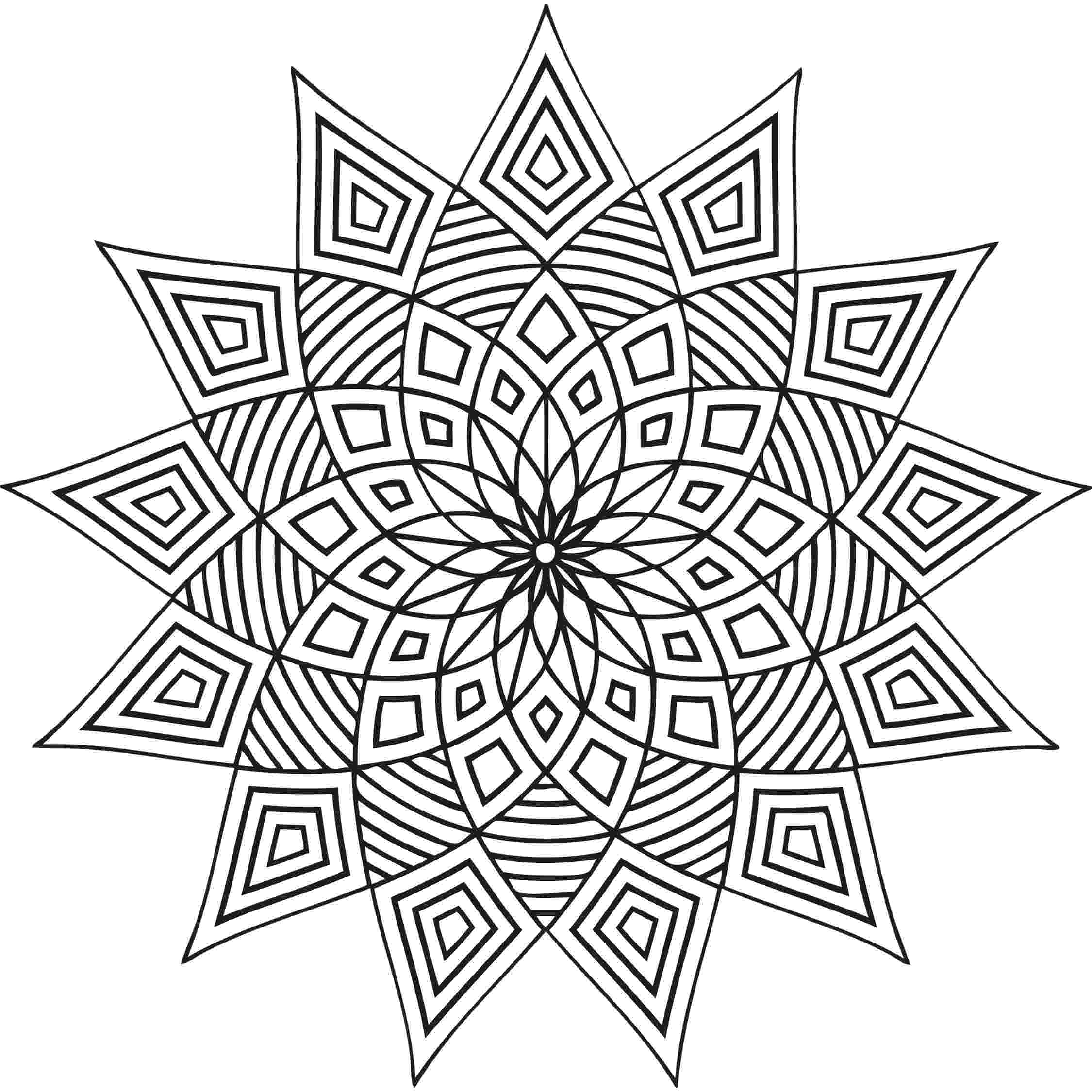 free design coloring pages free printable geometric coloring pages for adults coloring free design pages