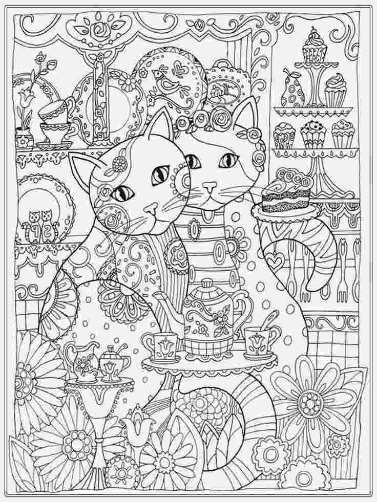 free detailed coloring pages cat coloring pages for adult realistic coloring pages coloring free detailed pages
