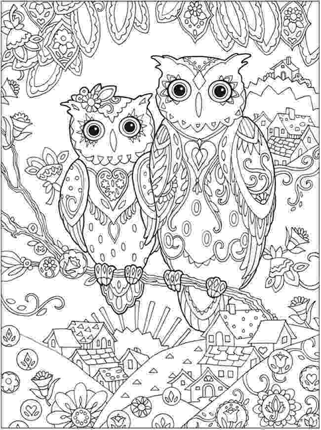 free detailed coloring pages owl coloring pages for adults free detailed owl coloring coloring detailed pages free