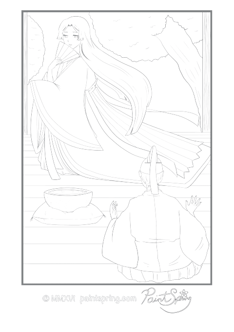 free detailed coloring pages printable moon princess adult coloring book get 3 free pages detailed coloring free pages