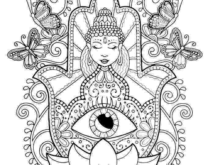 free hamsa coloring page hamsa hand coloring page for adults hand of fatima adult free coloring page hamsa