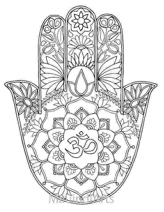 free hamsa coloring page hamsa om hand drawn adult coloring page print coloring page free hamsa coloring