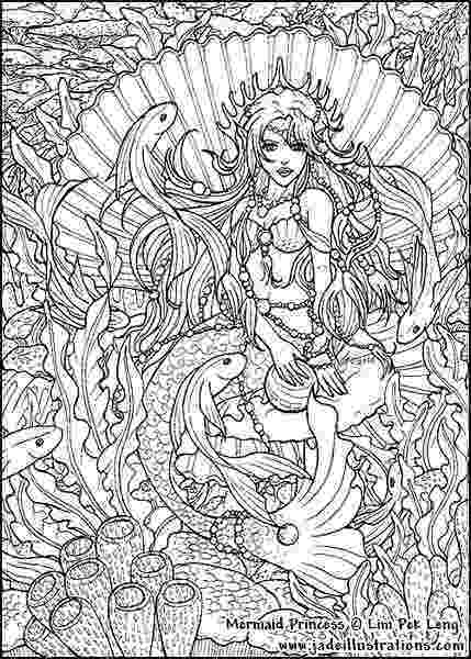 free mermaid coloring pages adult coloring pages mermaids free coloring page free mermaid coloring pages