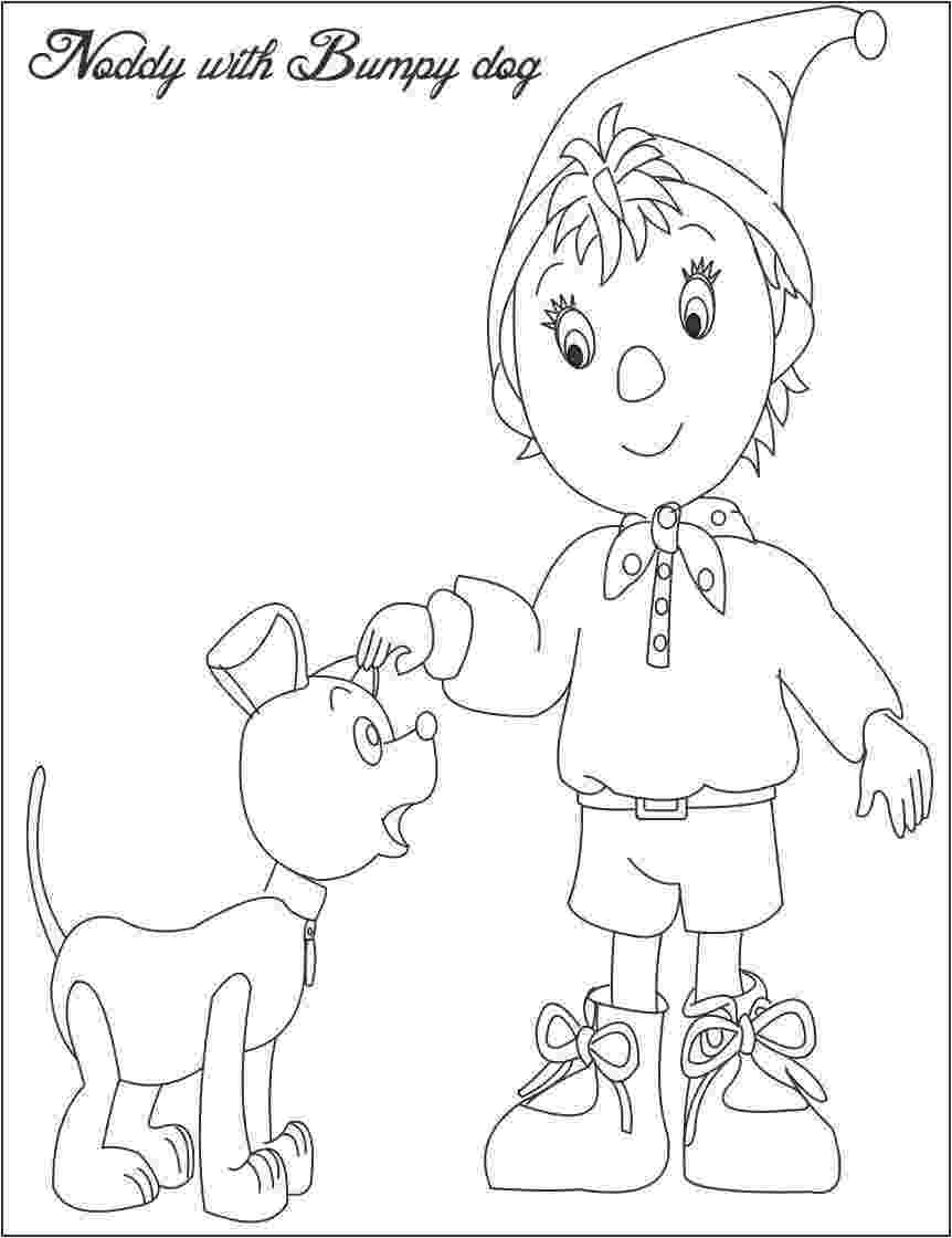 free noddy colouring pages coloring book noddy free pages colouring noddy