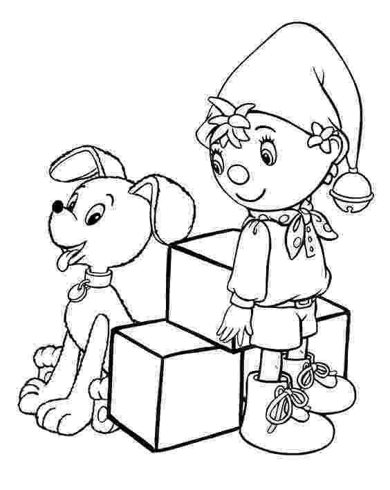 free noddy colouring pages dinah doll holds balloons coloring page free printable colouring free pages noddy