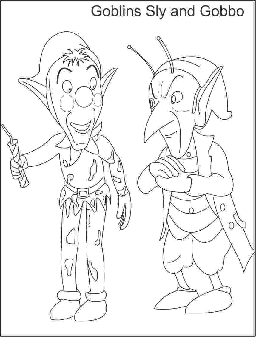 free noddy colouring pages goblins printable coloring page for kids colouring free noddy pages
