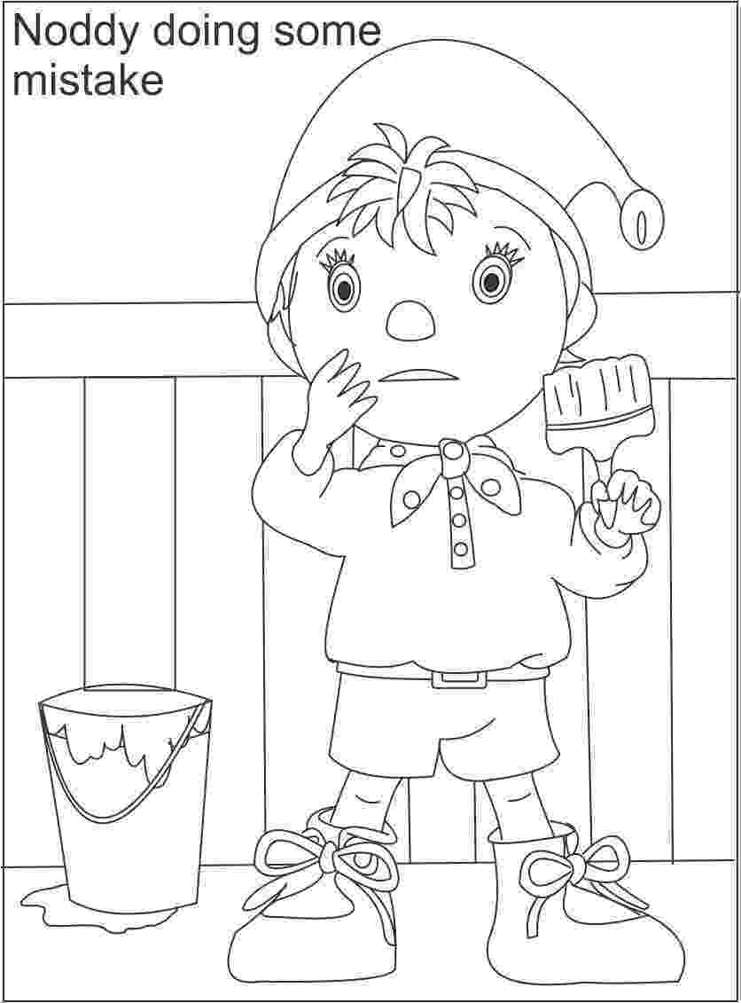free noddy colouring pages noddy coloring pages coloringpagesabccom colouring pages free noddy