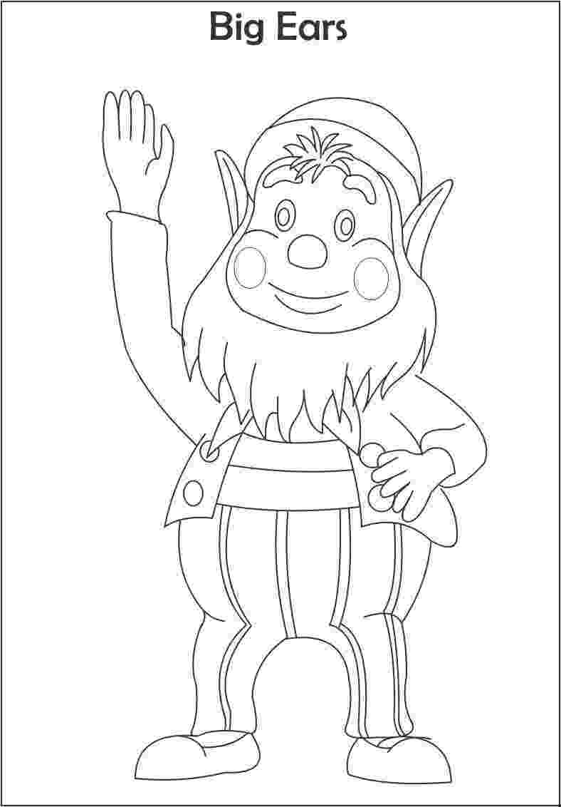 free noddy colouring pages noddy coloring pages coloringpagesabccom noddy pages colouring free