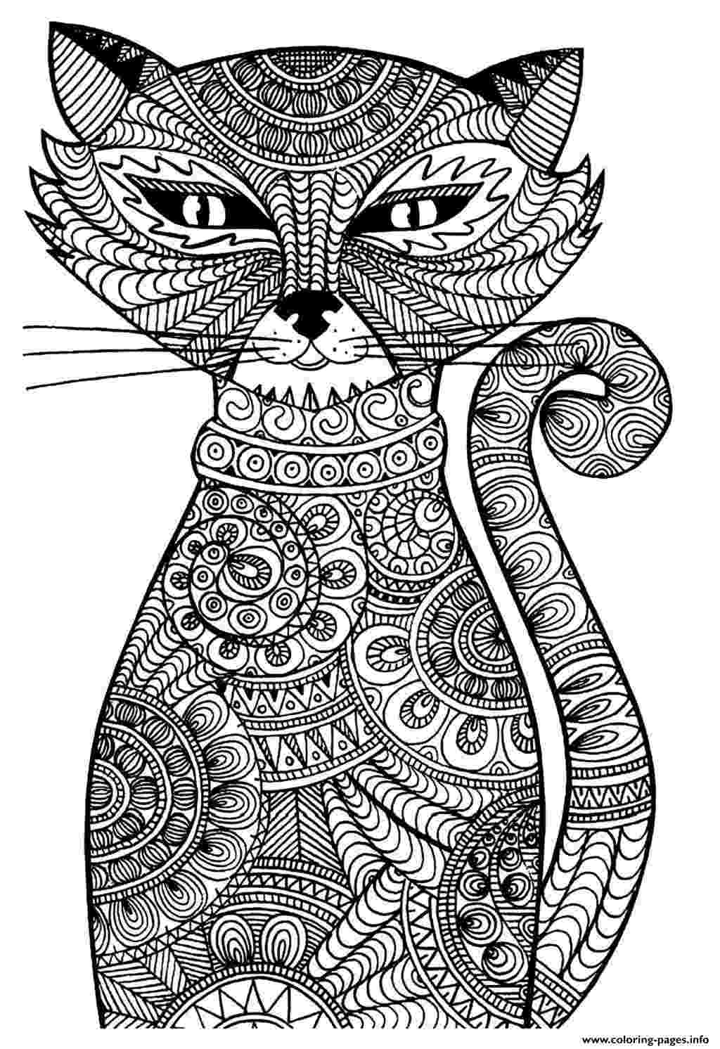 free online coloring pages for adults cats adult coloring cats 14088 bestofcoloringcom more to online for free adults coloring cats pages