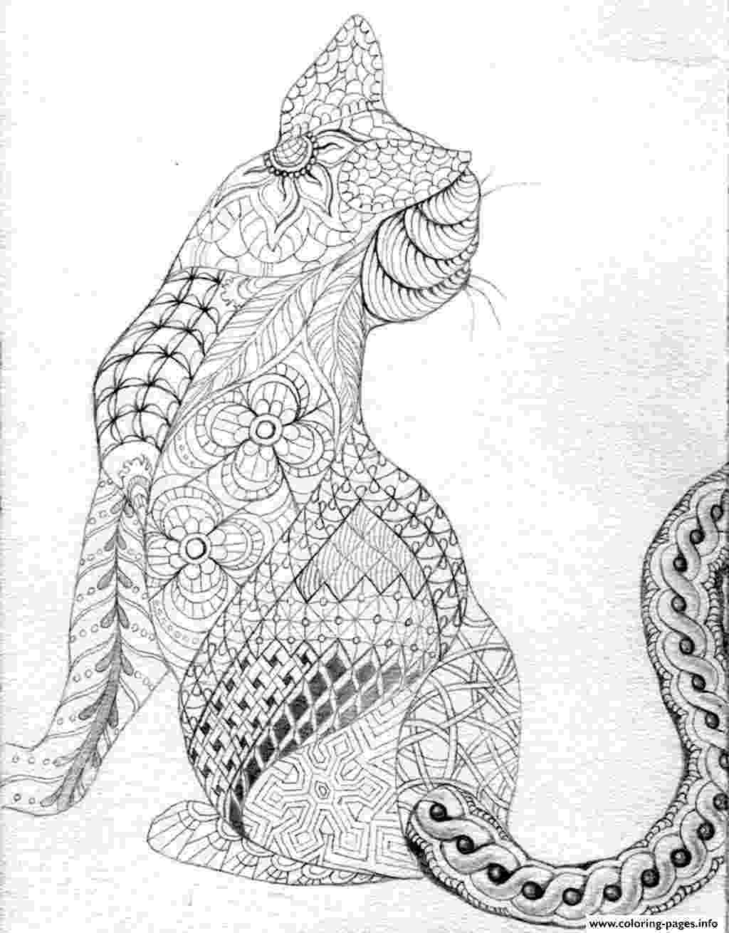 free online coloring pages for adults cats adult difficult cat from back coloring pages printable pages online cats for free adults coloring