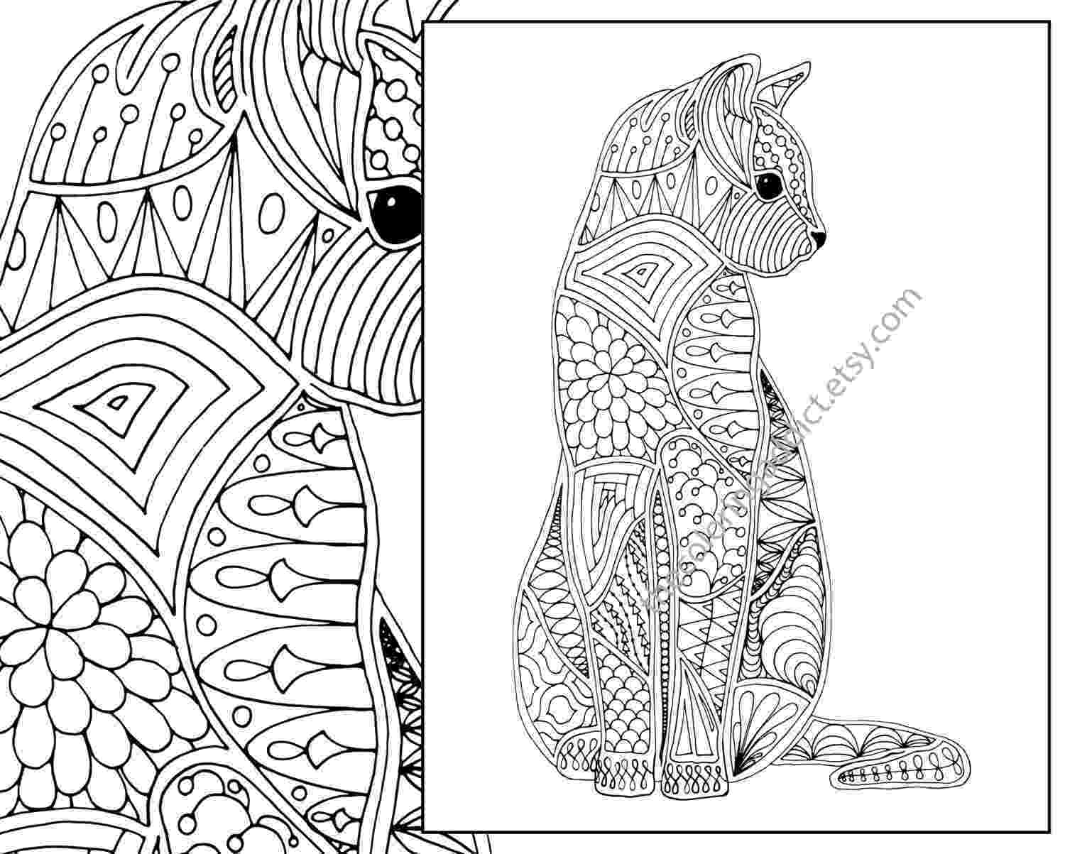 free online coloring pages for adults cats cat coloring page advanced coloring page adult coloring pages cats for free adults online coloring