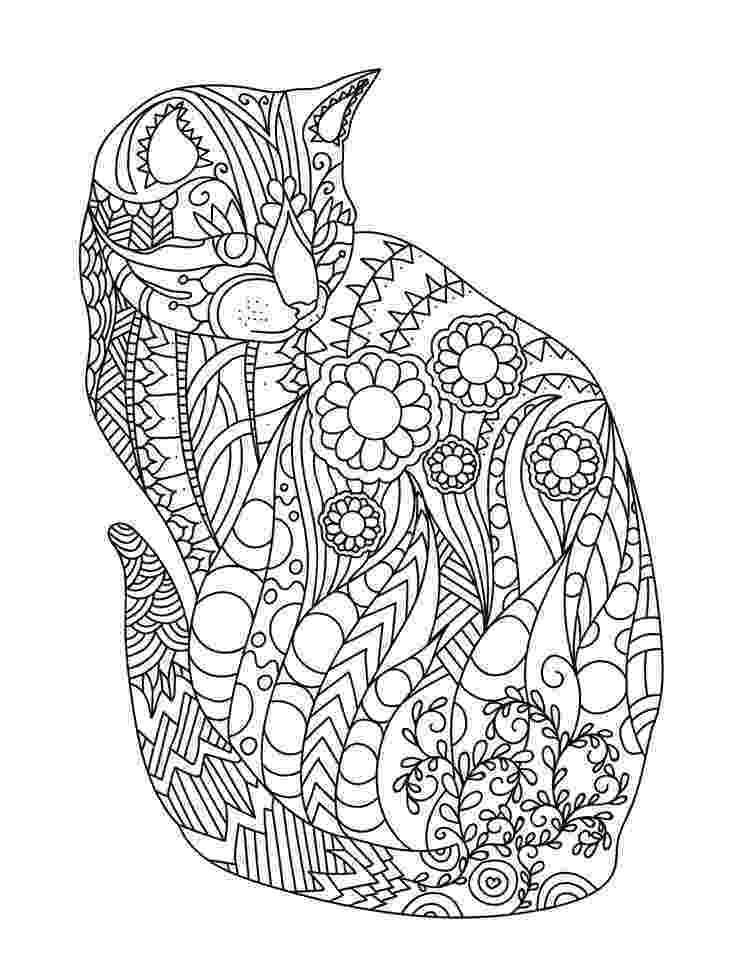free online coloring pages for adults cats cat colorish coloring book for adults mandala relax by coloring adults for cats free online pages