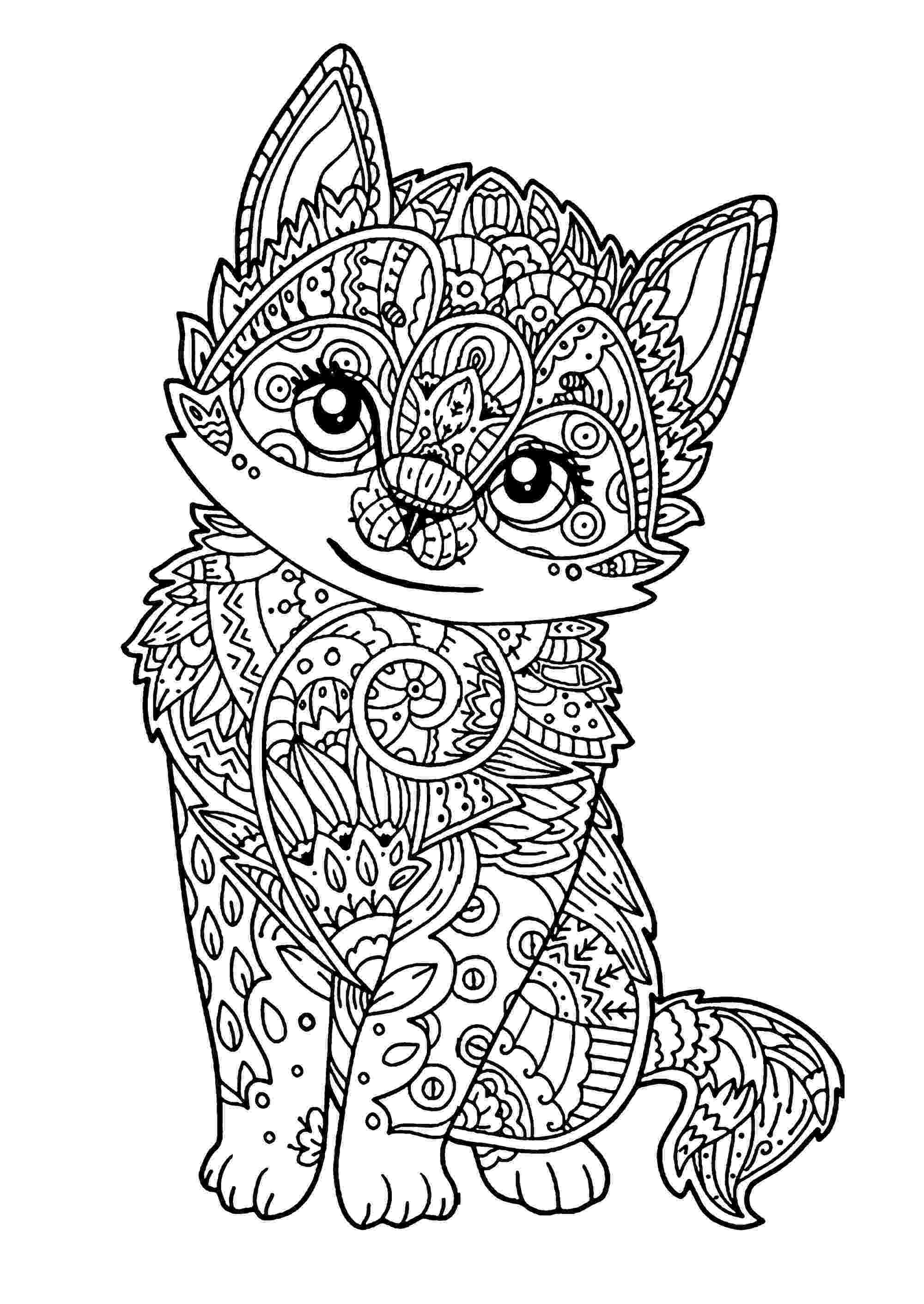 free online coloring pages for adults cats cat for kids little kitten cats kids coloring pages free online pages coloring for adults cats