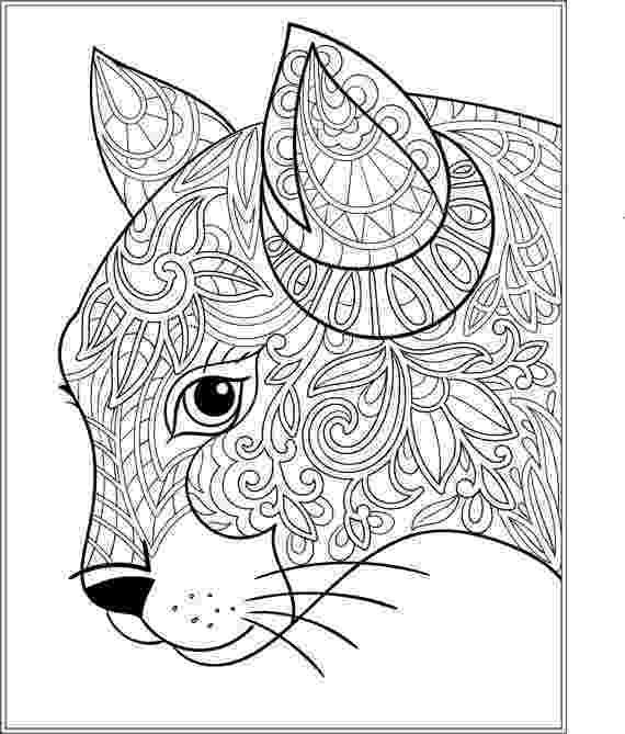 free online coloring pages for adults cats cat stress relieving designs patterns adult by cats online free coloring adults for pages