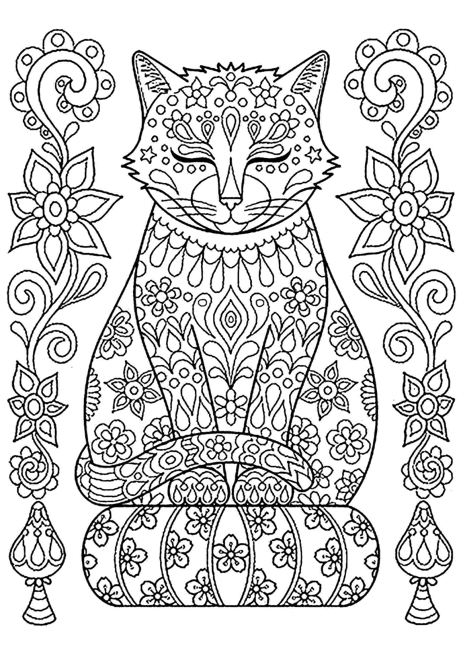 free online coloring pages for adults cats cat to download cat on pillow cats kids coloring pages cats for coloring pages online free adults