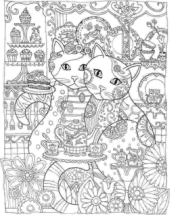 free online coloring pages for adults cats cute kitten cats adult coloring pages pages adults online cats for free coloring
