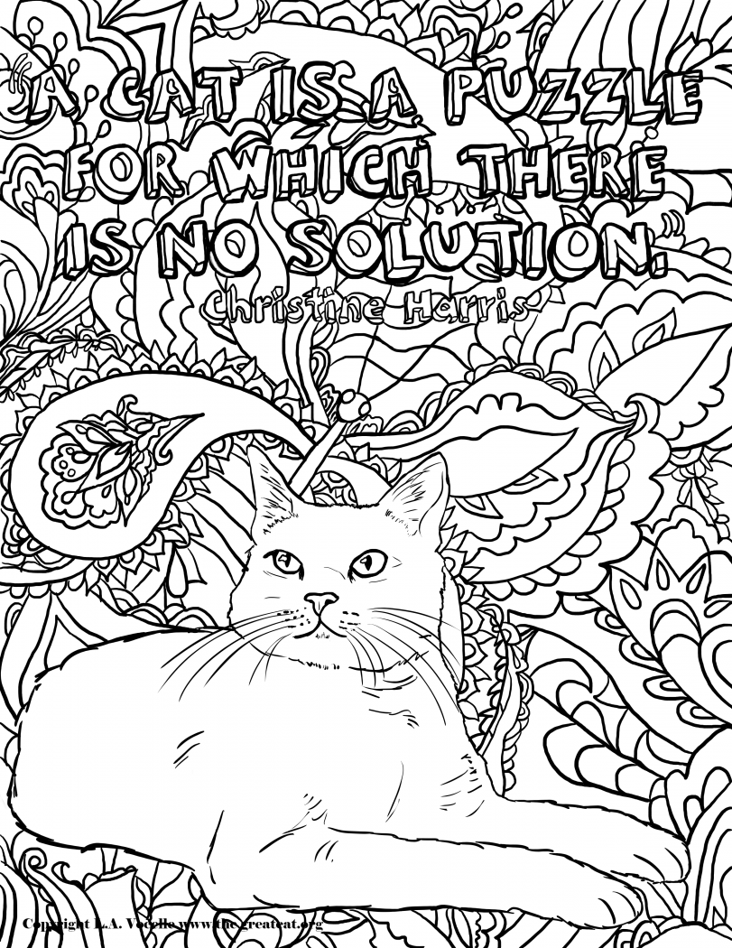 free online coloring pages for adults cats free adult coloring pages happiness is homemade adults online free pages cats for coloring