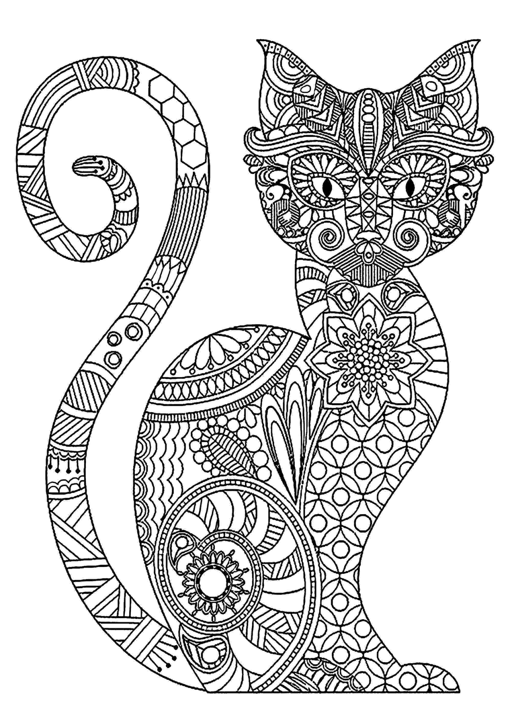 free online coloring pages for adults cats free coloring pages online free for adults coloring cats pages
