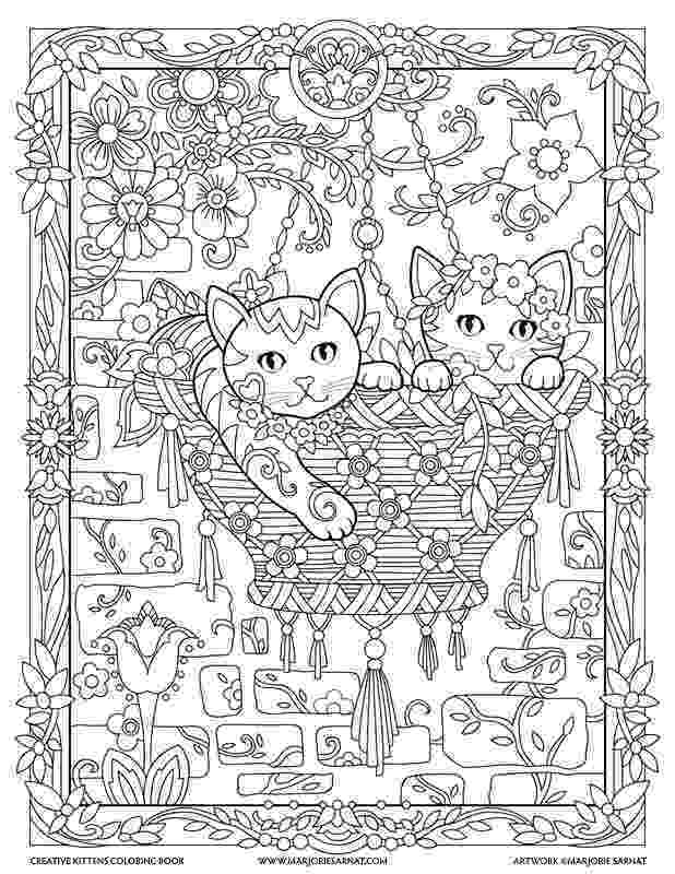 free online coloring pages for adults cats hanging basket creative kittens coloring book by online cats free adults coloring for pages