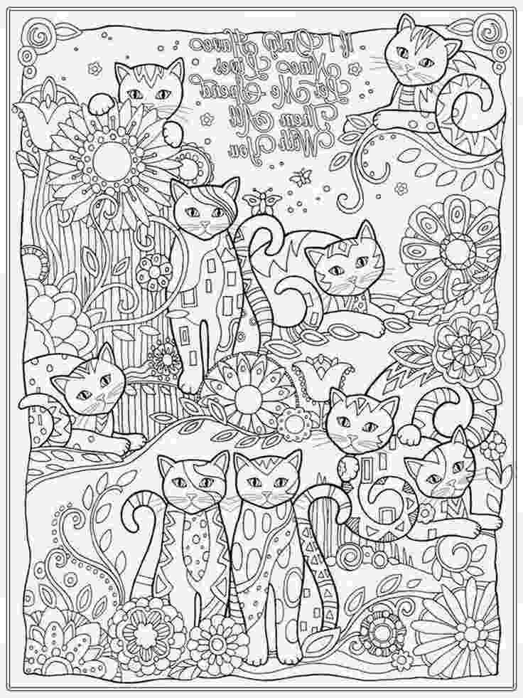 free online coloring pages for adults cats pages cat head animals coloring pages for adults for adults pages cats free coloring online
