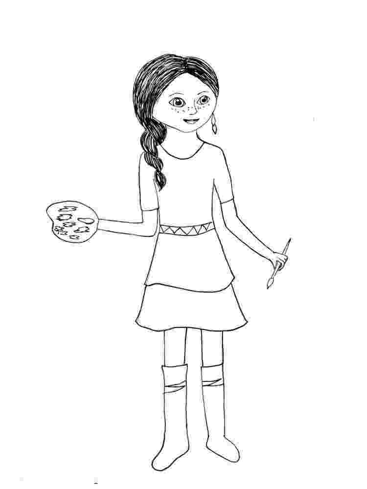 free printable american girl doll coloring pages american girl doll coloring pages to download and print girl coloring printable doll pages american free