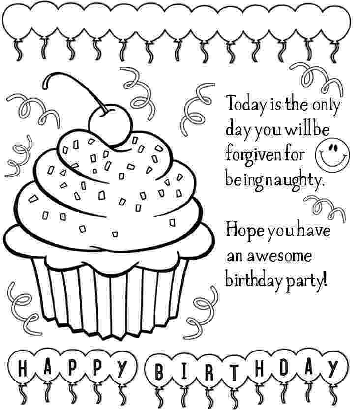free printable coloring birthday card for teacher free printable happy birthday coloring pages with balloons card for birthday coloring teacher free printable