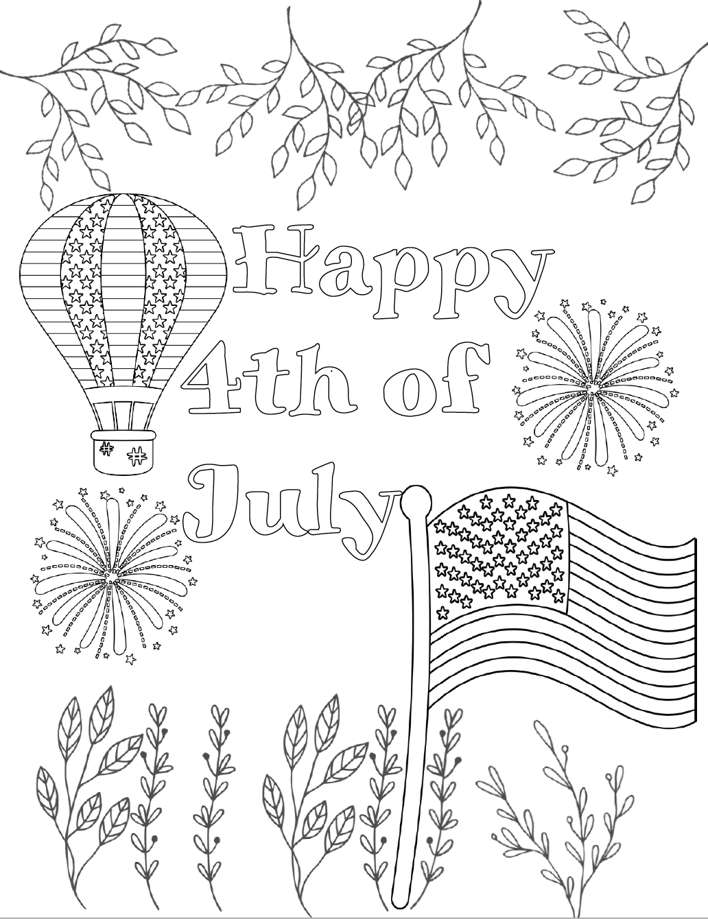 free printable coloring pages 4th of july i love usa coloring pages july 4 independence day coloring july printable of free 4th pages
