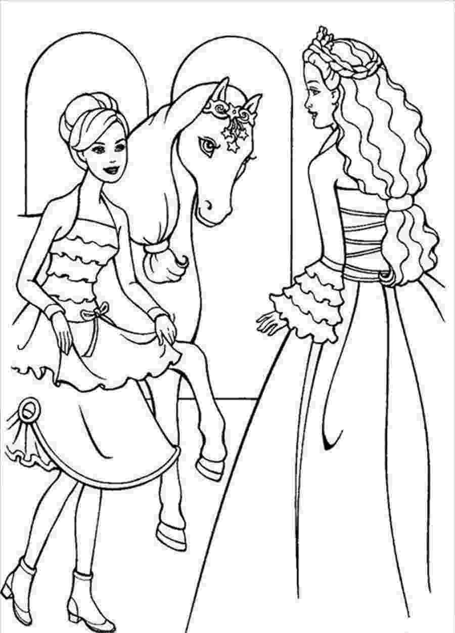 free printable coloring pages barbie barbie and horse coloring pages download and print for free barbie coloring pages printable free
