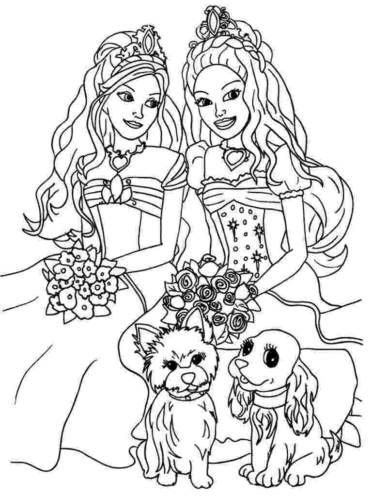 free printable coloring pages barbie kids coloring sheets barbie and the diamond castle printable barbie pages coloring free