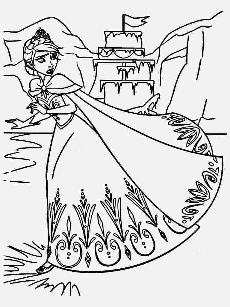 free printable coloring pages of elsa from frozen free printable elsa coloring pages for kids best elsa pages from of free coloring frozen printable